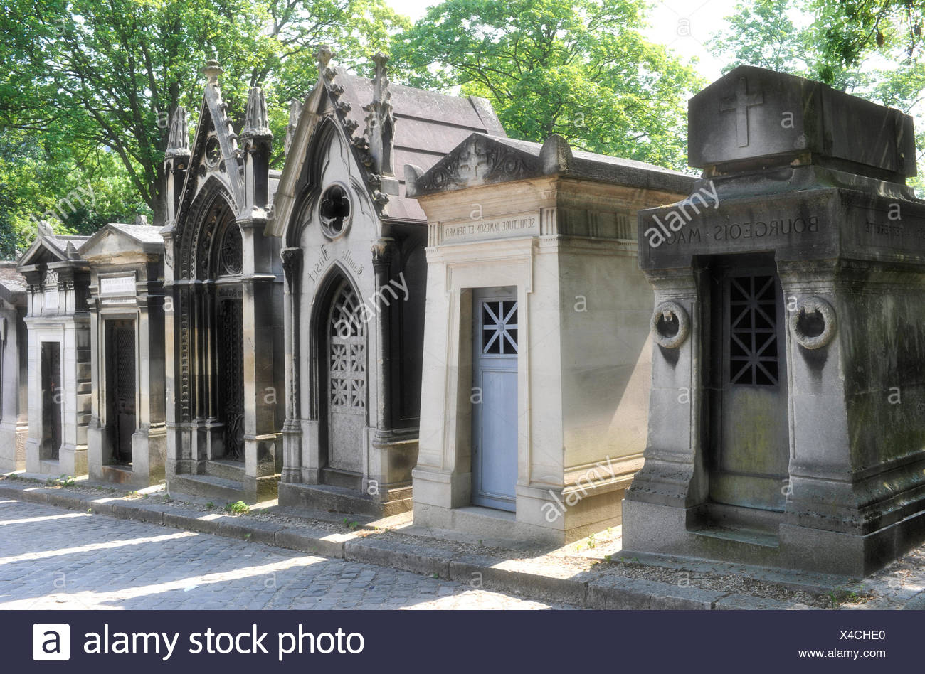 Pere Lachaise Cemetery, Paris, France, Europe - Stock Image