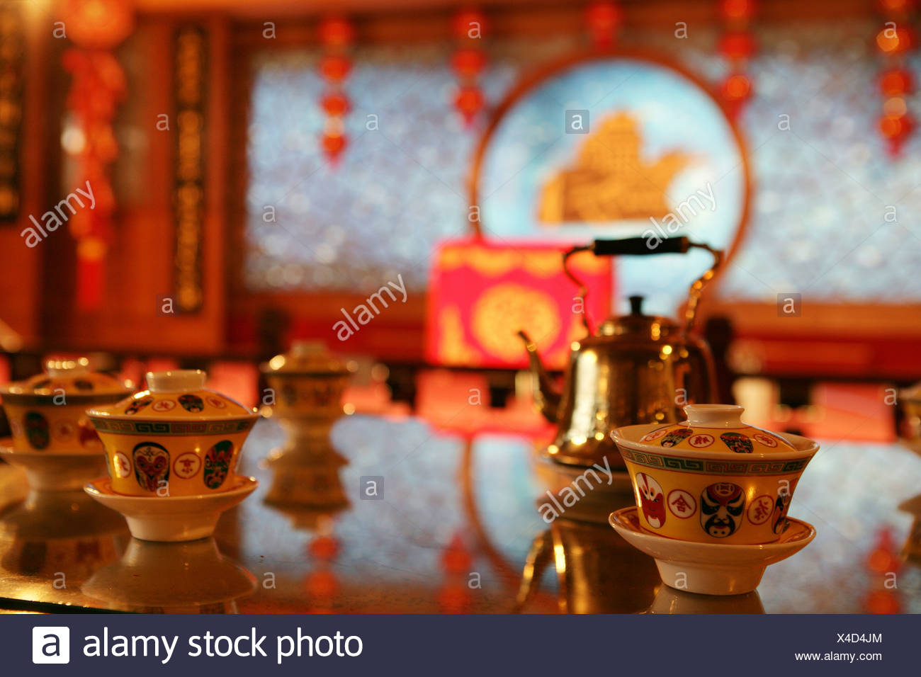 Caff,Tea Set - Stock Image