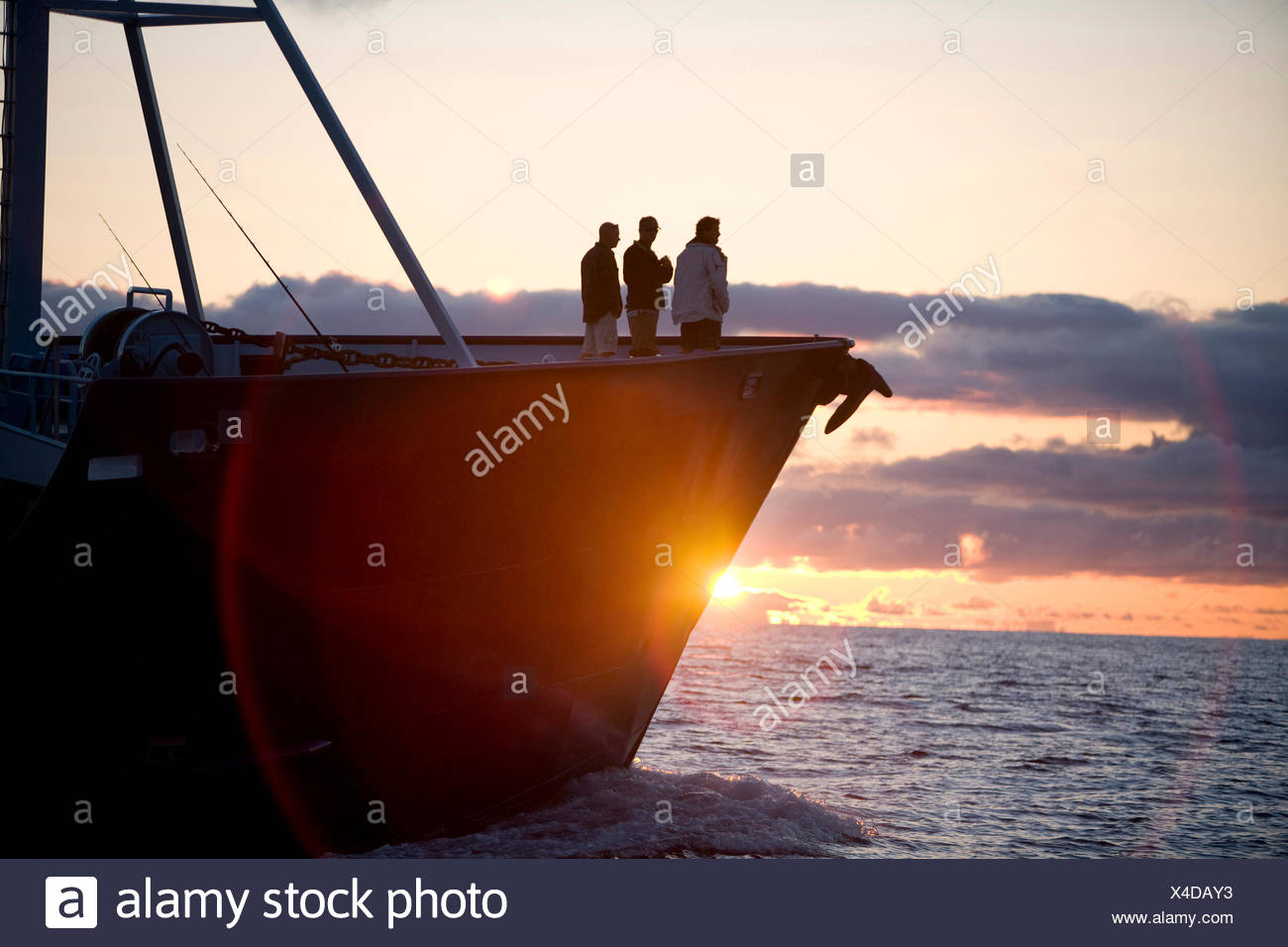 Expedition Boat sillouette. - Stock Image
