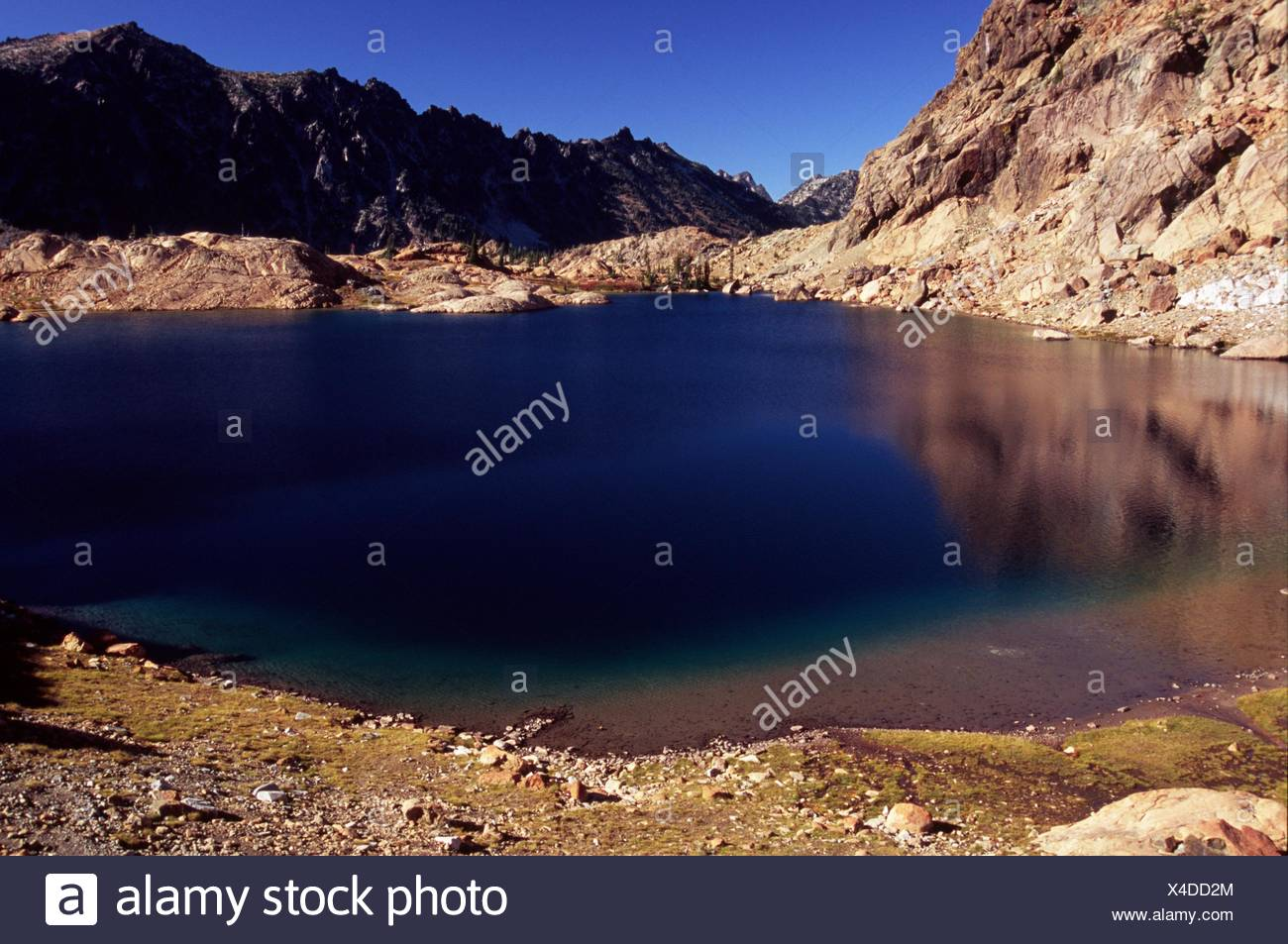 Lake Ingalls, Alpine Lakes Wilderness, Wenatchee National Forest, Washington. - Stock Image