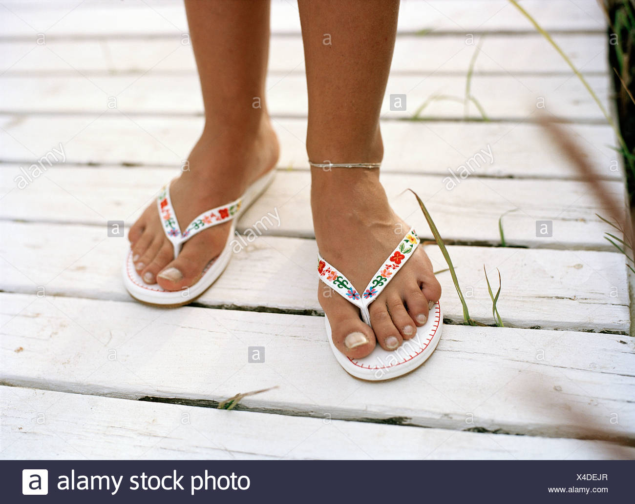 861fdbfc83c Feet In Sandals Stock Photos   Feet In Sandals Stock Images - Alamy