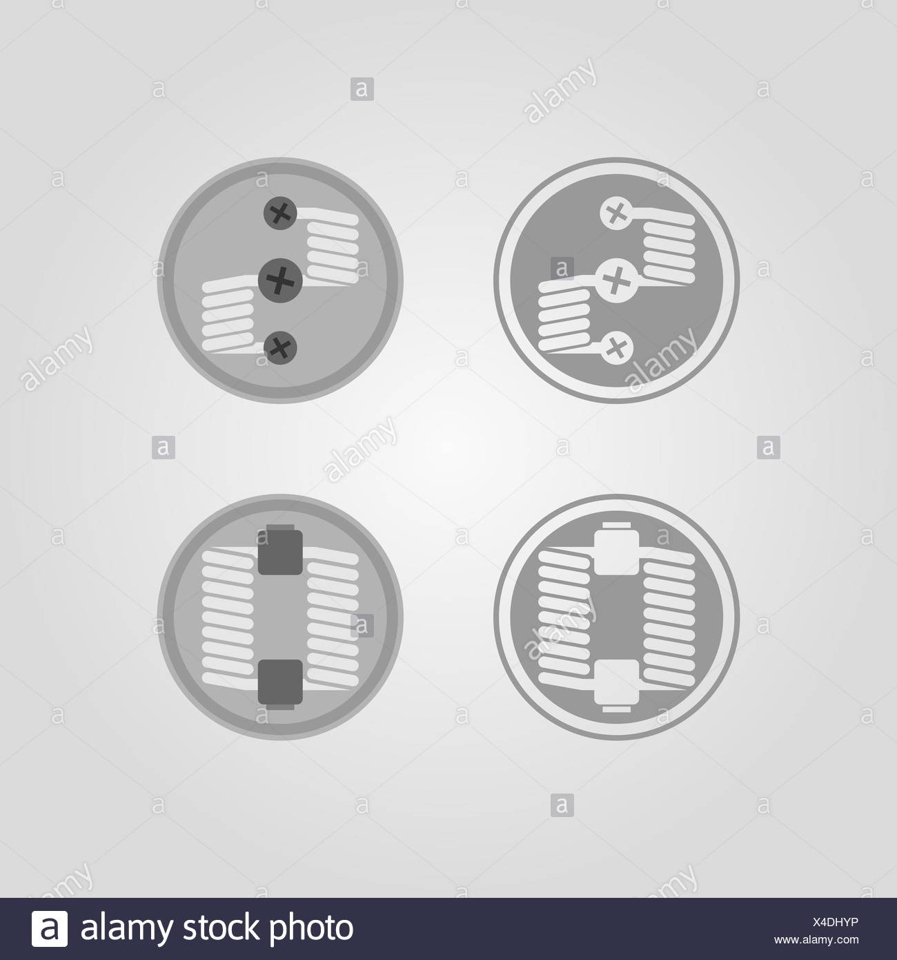 Two different designed types of rda - Stock Image