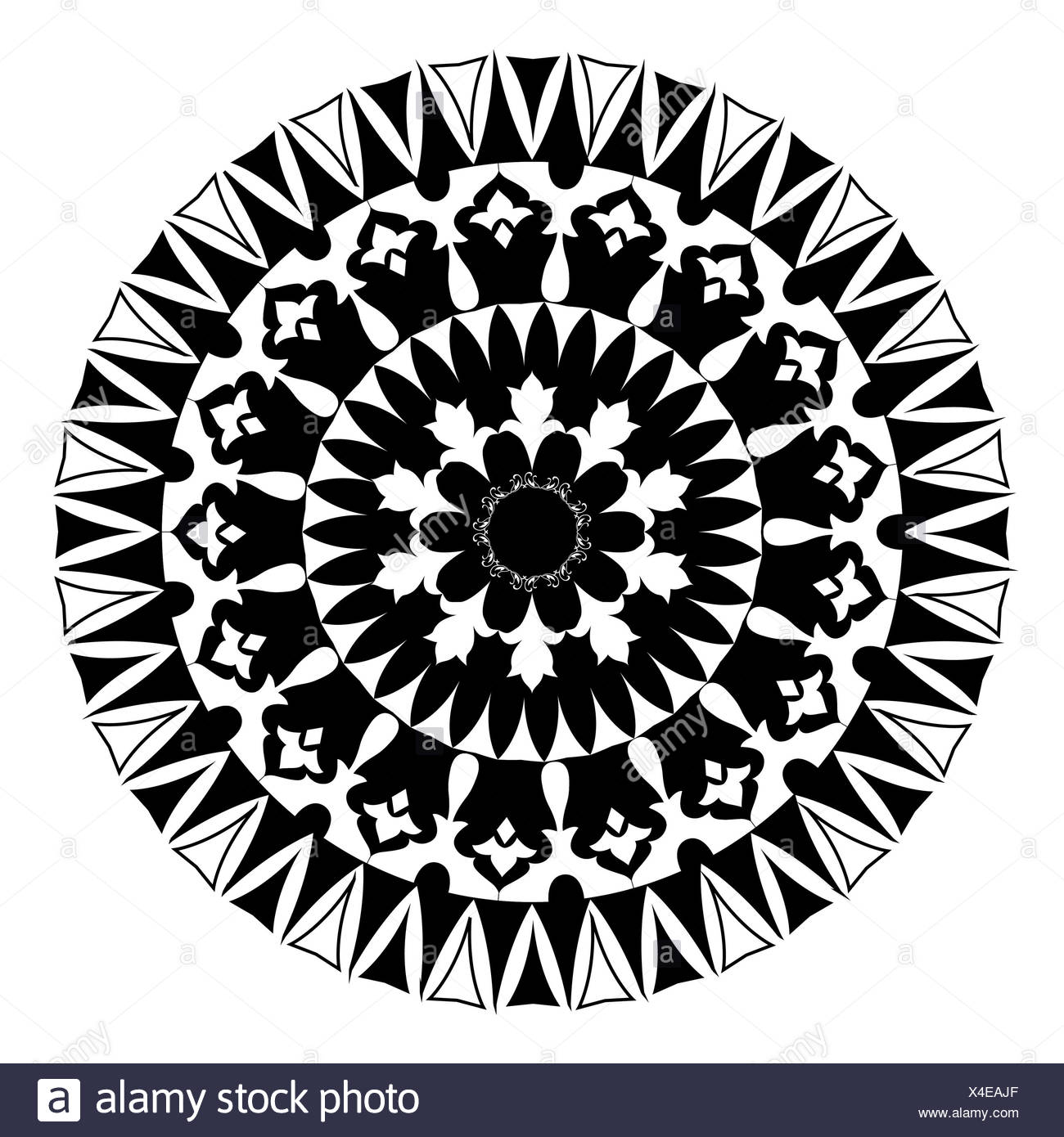 Oriental pattern and ornaments 04 version - Stock Image