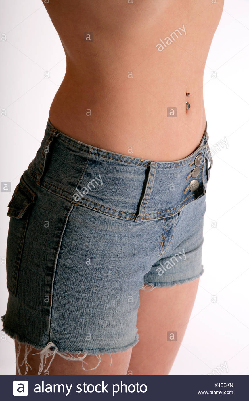 belly button - Stock Image