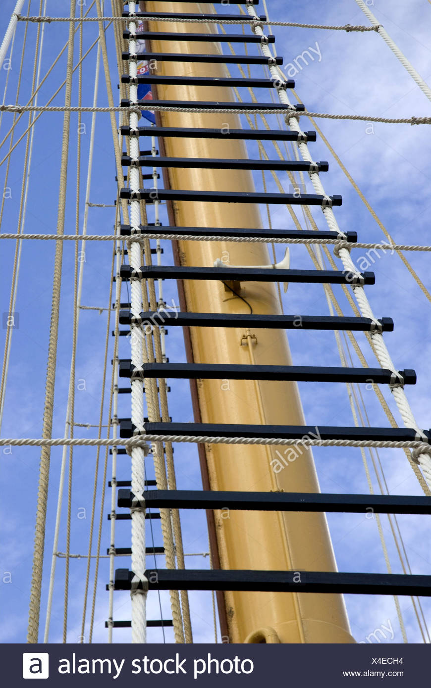 Ship mast, detail, - Stock Image