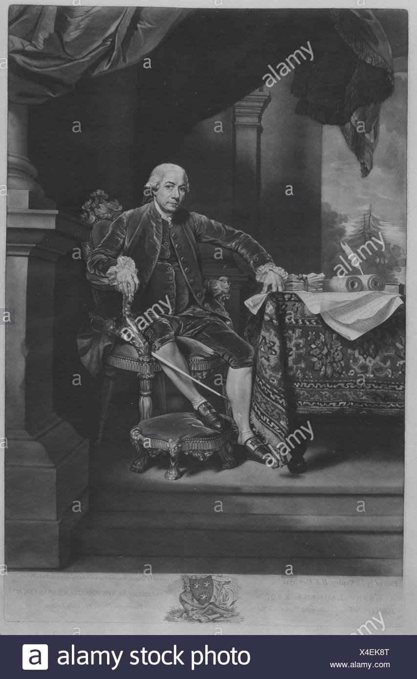 Charles, Earl Cornwallis. Artist: Francesco Bartolozzi (Italian, Florence 1728-1815 Lisbon); Artist: After Hugh Douglas Hamilton (Irish, Dublin - Stock Image