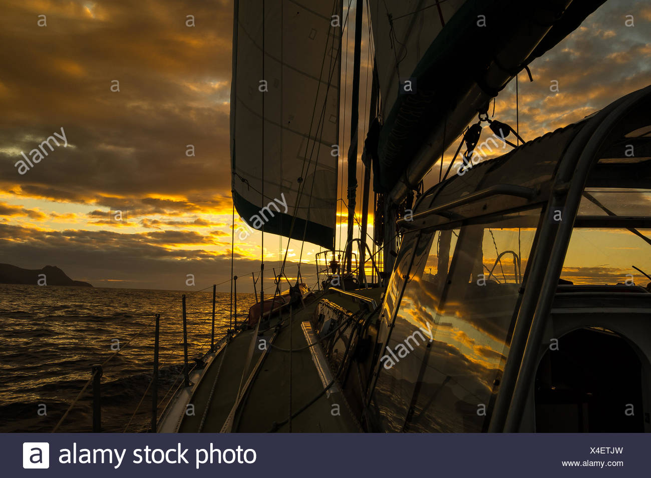View from deck of boat - Stock Image