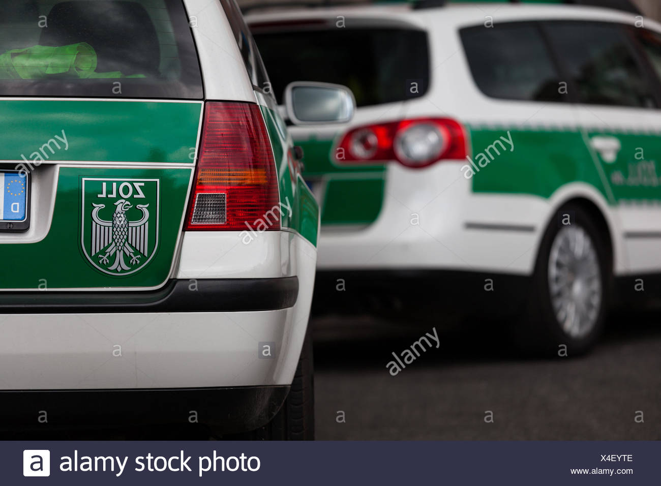 Customs patrol car - Stock Image