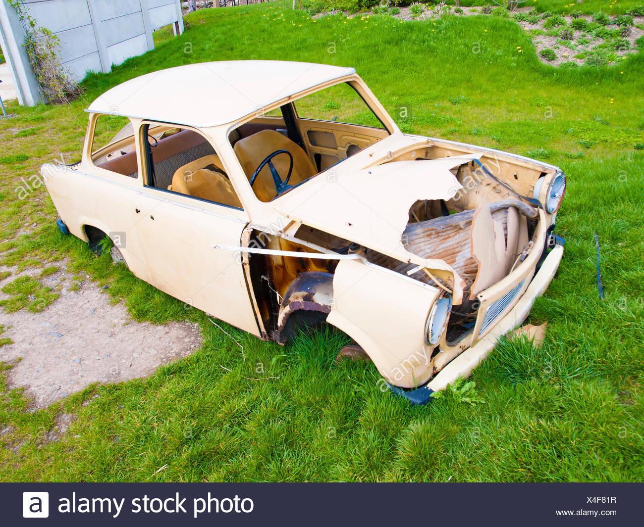 Abandoned old car. - Stock Image