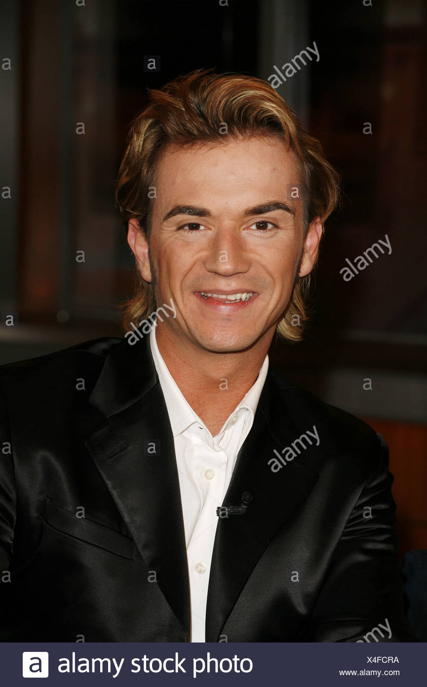 Silbereisen, Florian, * 4.8.1981, German singer (folk music) and moderator, portrait, guest at TV show 'Johannes B. Kerner', Hamburg, 5.12.2006, Additional-Rights-Clearances-NA - Stock Image
