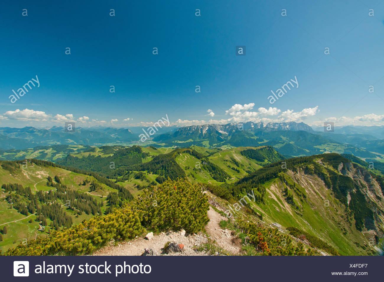 Bavaria, Europe, Germany, Upper Bavaria, Chiemgau, Aschau, Priental, Prien, Sachrang, Geigelstein, Wilder Kaiser, Zahmer Kaiser Stock Photo