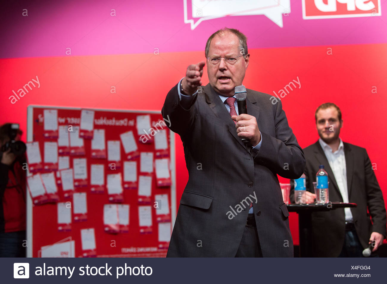 Hamburg, Germany, SPD mayor dialogue with Peer Steinbrueck - Stock Image