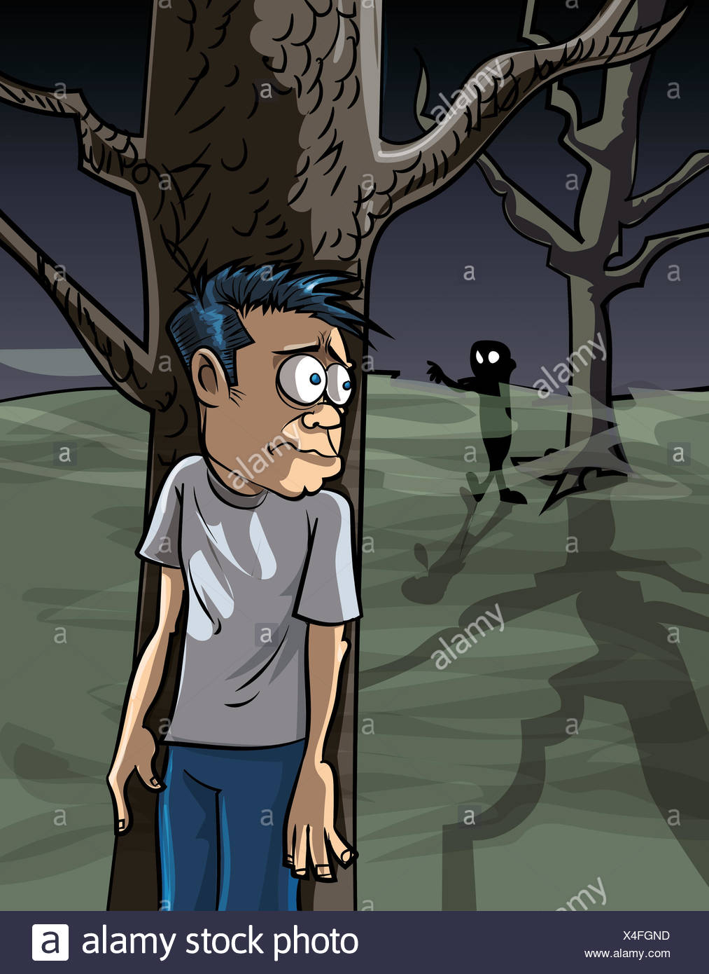 Cartoon Man Scared Stock Photos Amp Cartoon Man Scared Stock