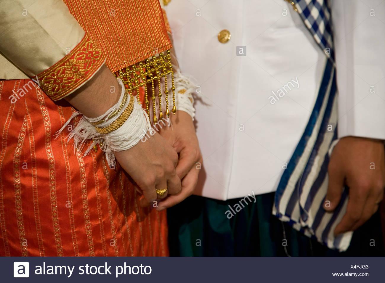 A couple wearing national dress Stock Photo