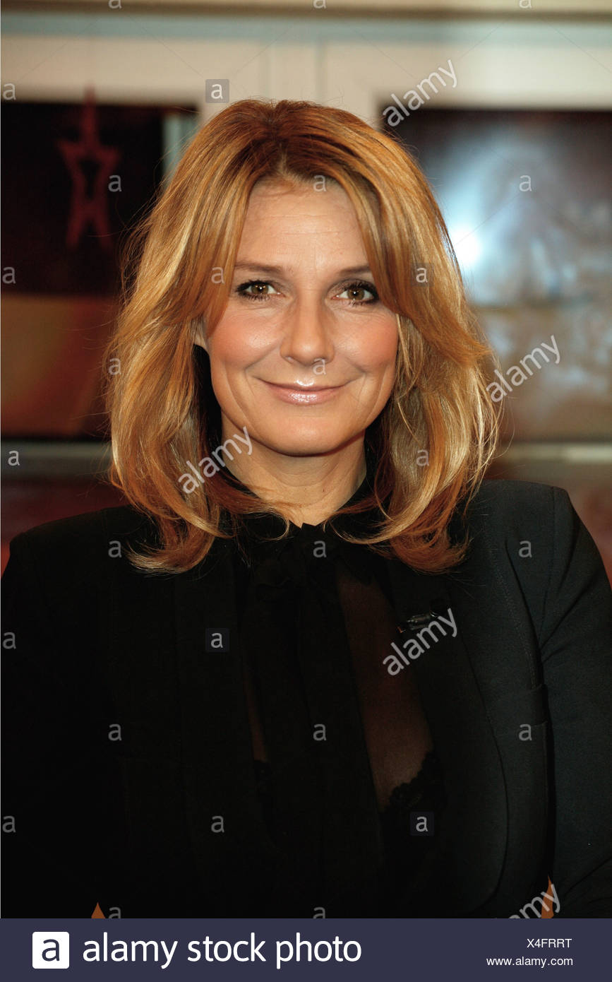 Fisher, Kim, * 17.4.1969, German TV presenter and singer, portrait, guest in the German TV show 'Markus Lanz', Hamburg, 3.12.2009, Additional-Rights-Clearances-NA - Stock Image