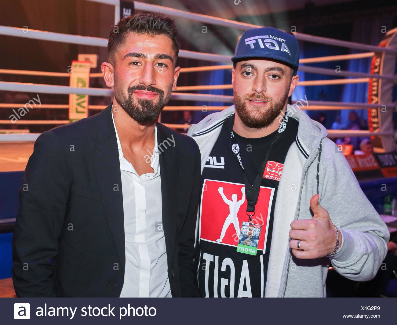 Rapper KC Rebell and Footballer Kerem Demirbay (TSG Hoffenheim) - Stock Image