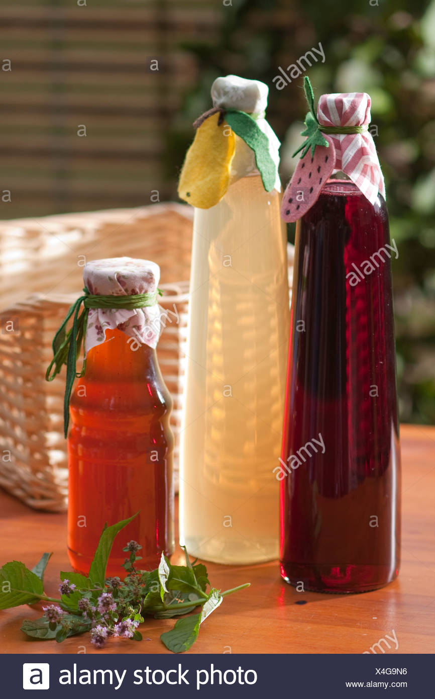 Glasses of Sirup - Stock Image