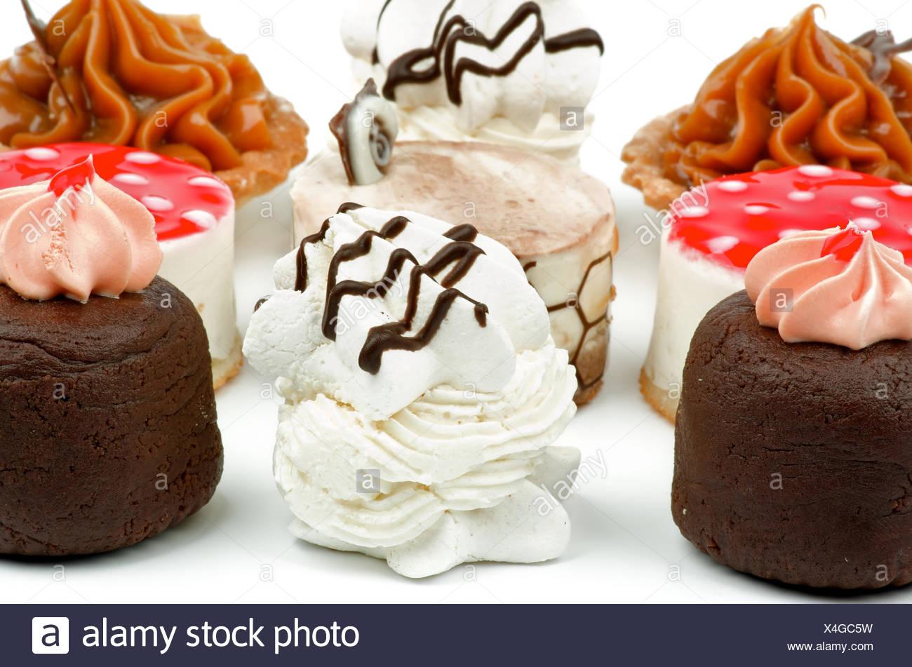Arrangement of Cakes - Stock Image