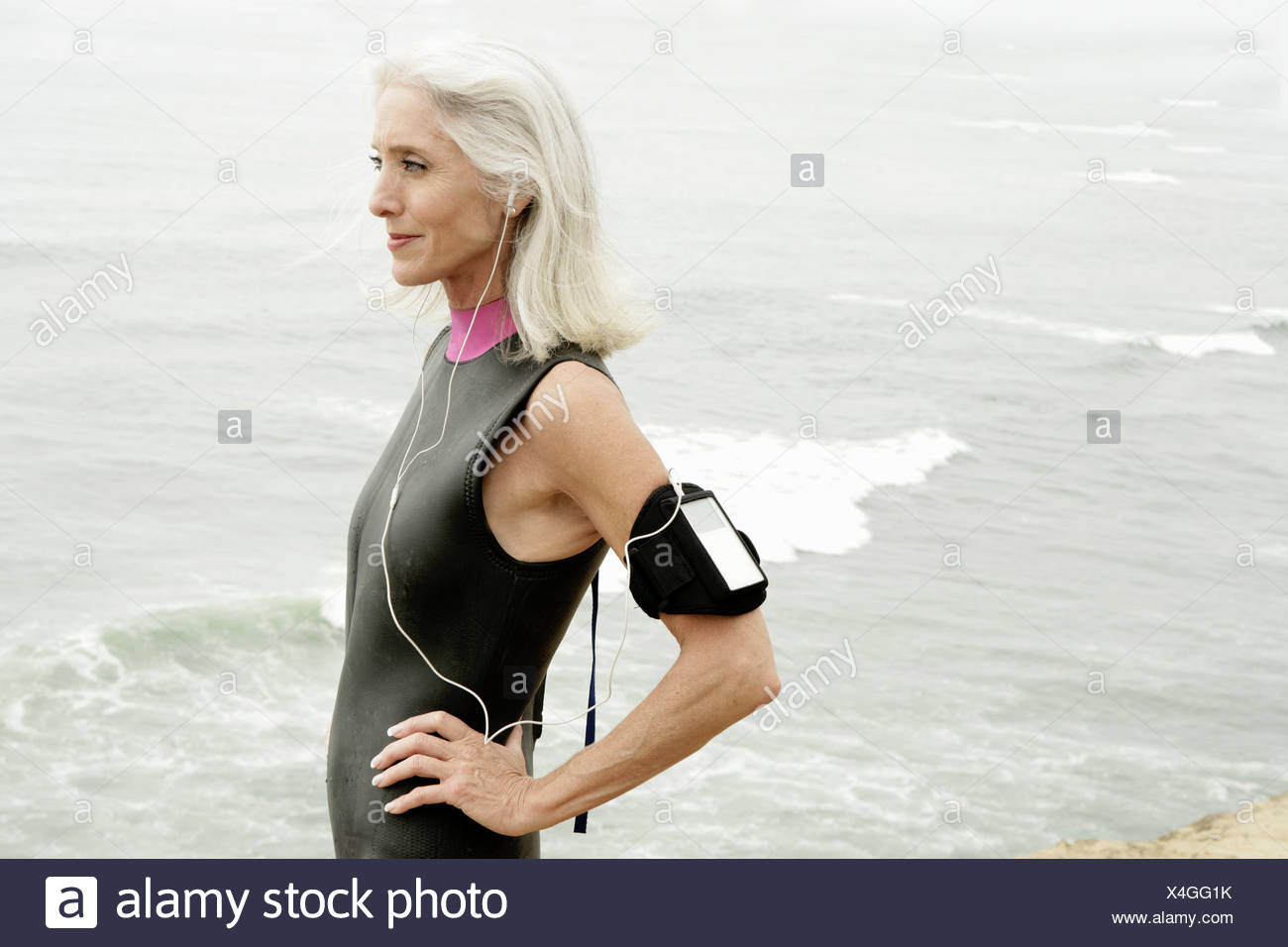 View of a mature woman. - Stock Image