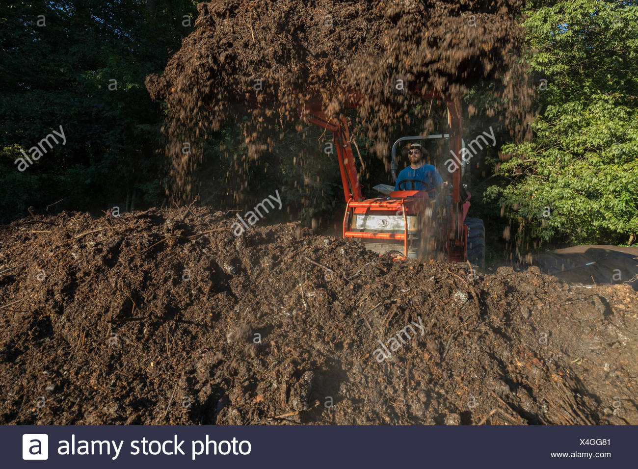 Love is Love Farm, Atlanta Georgia. Farm Manager Maxwell composting ...