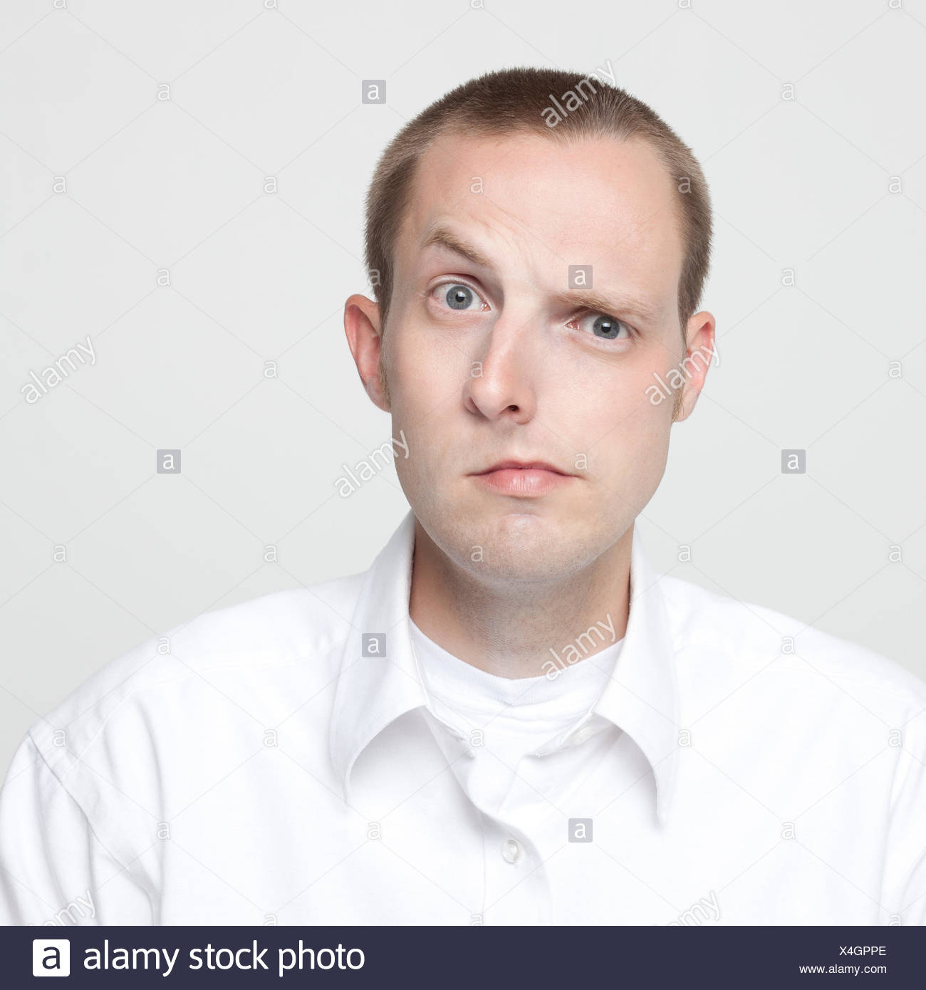 studio portrait of man with deformed face stock photo 278193622 alamy