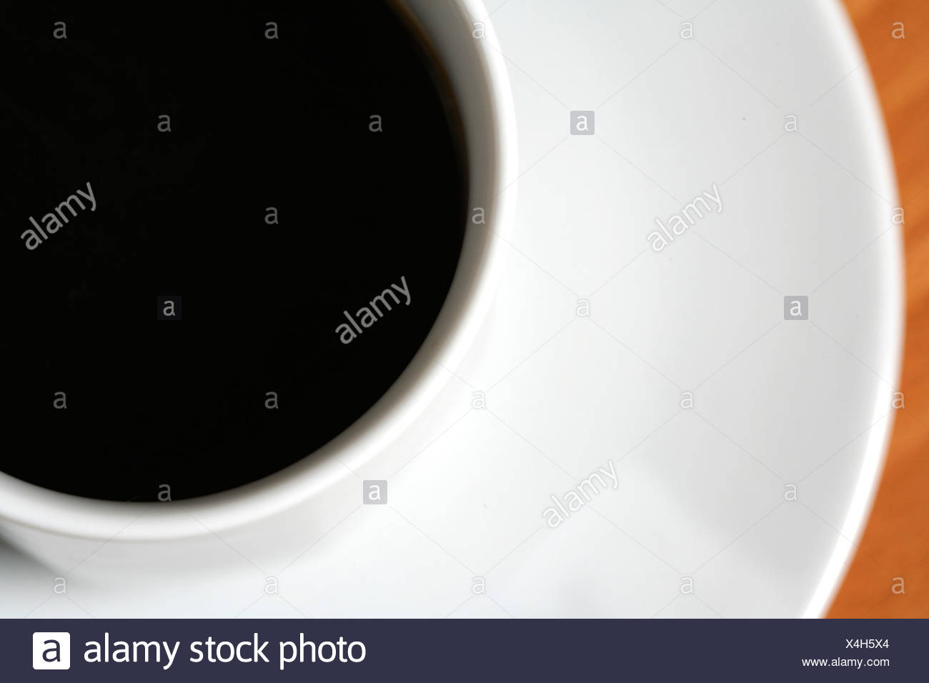 coffee detail cup black white - Stock Image
