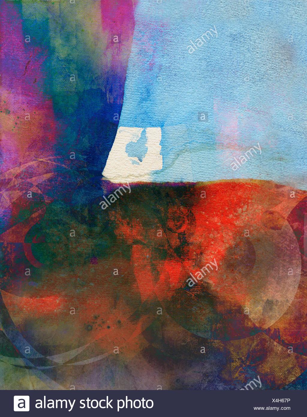 aquarell abstrakt muster bunt - Stock Image