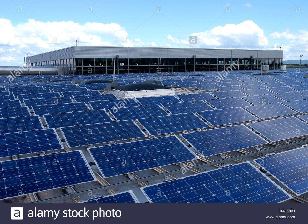 Solar power plant in Freiburg - Stock Image