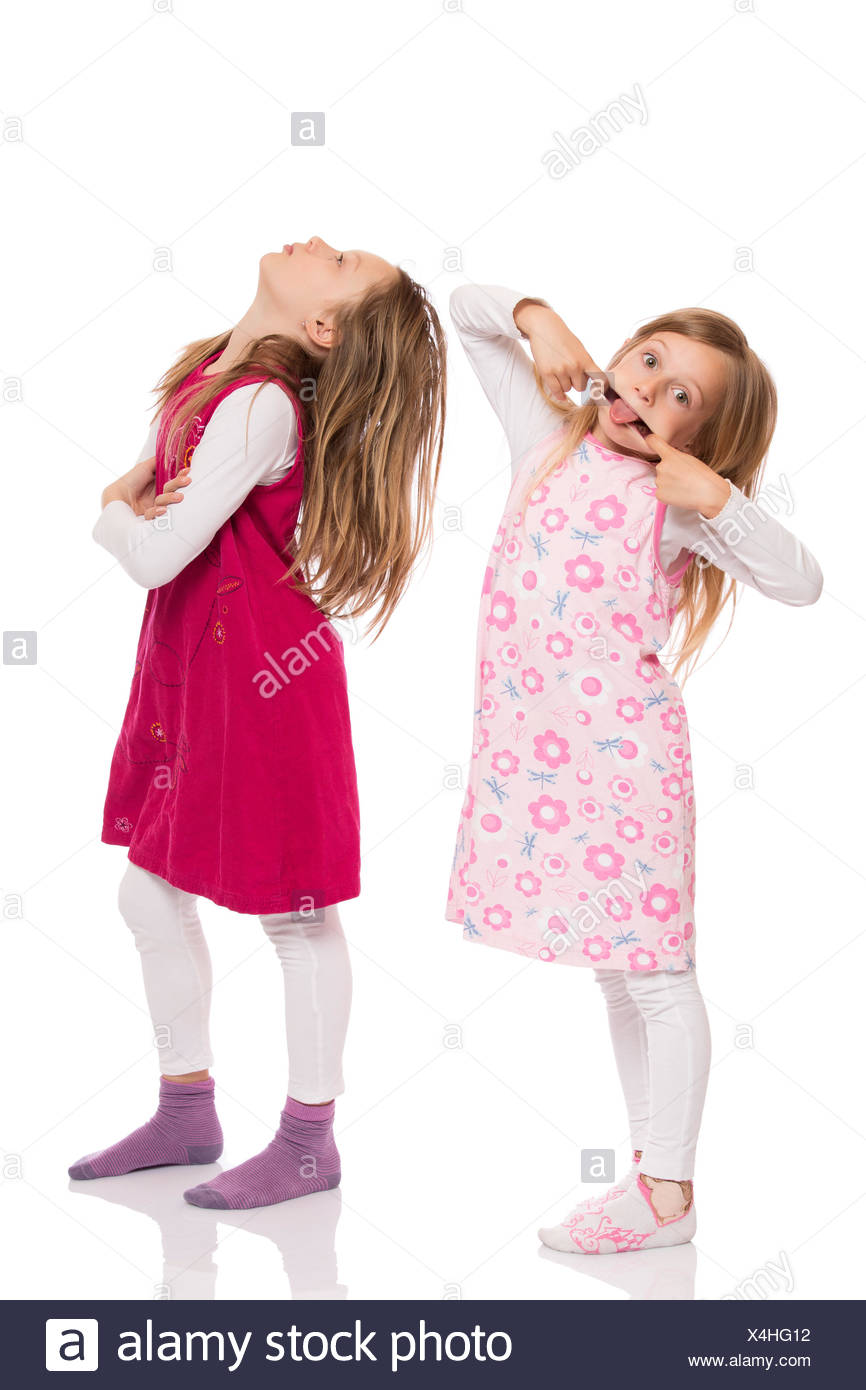 Funny children making face - Stock Image