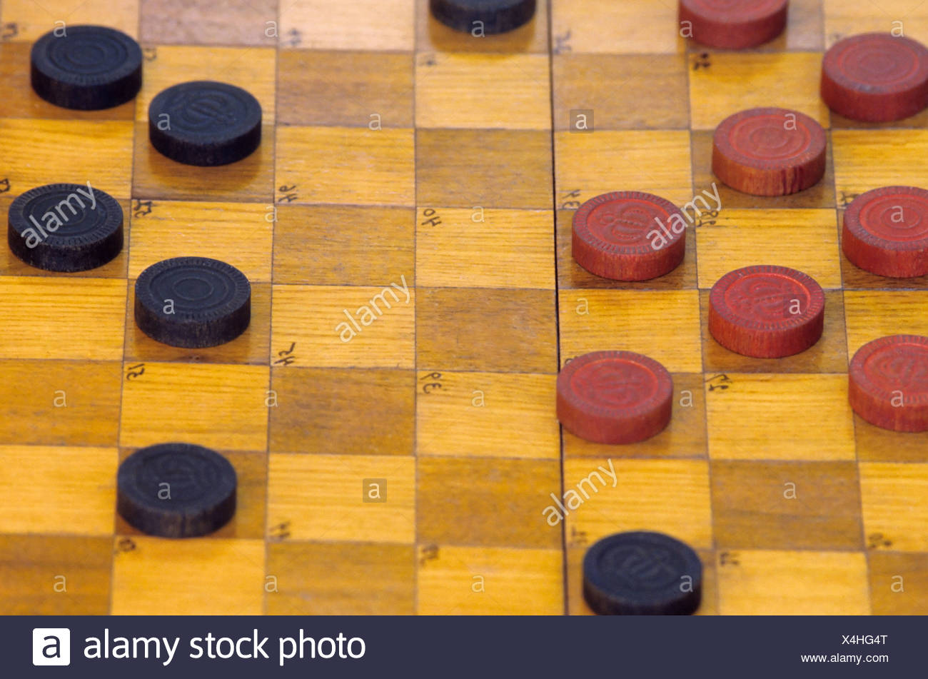 Draughts - Stock Image