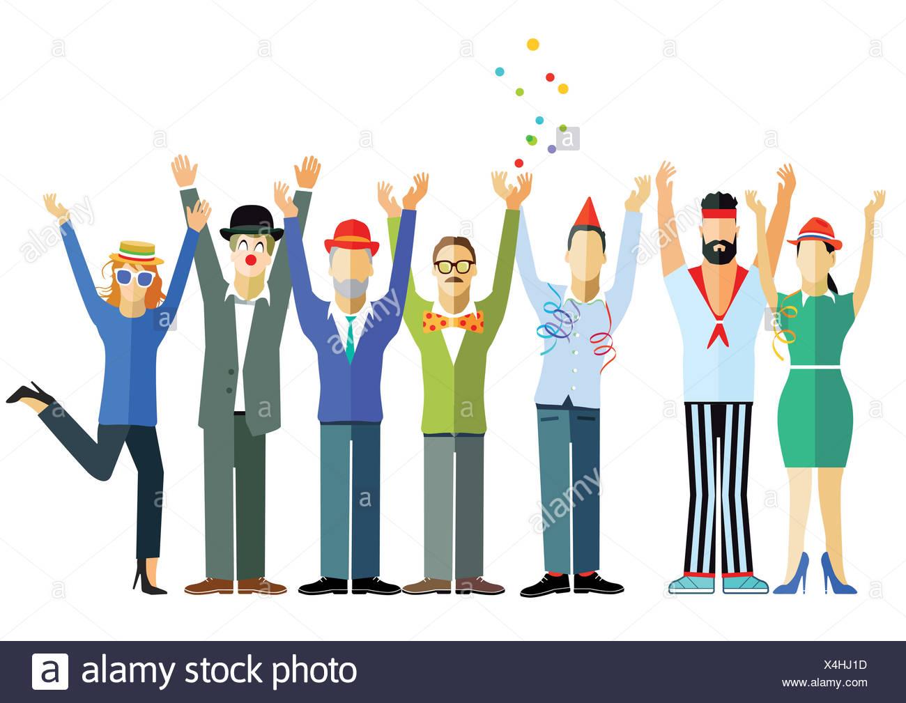 joyous celebration - Stock Image