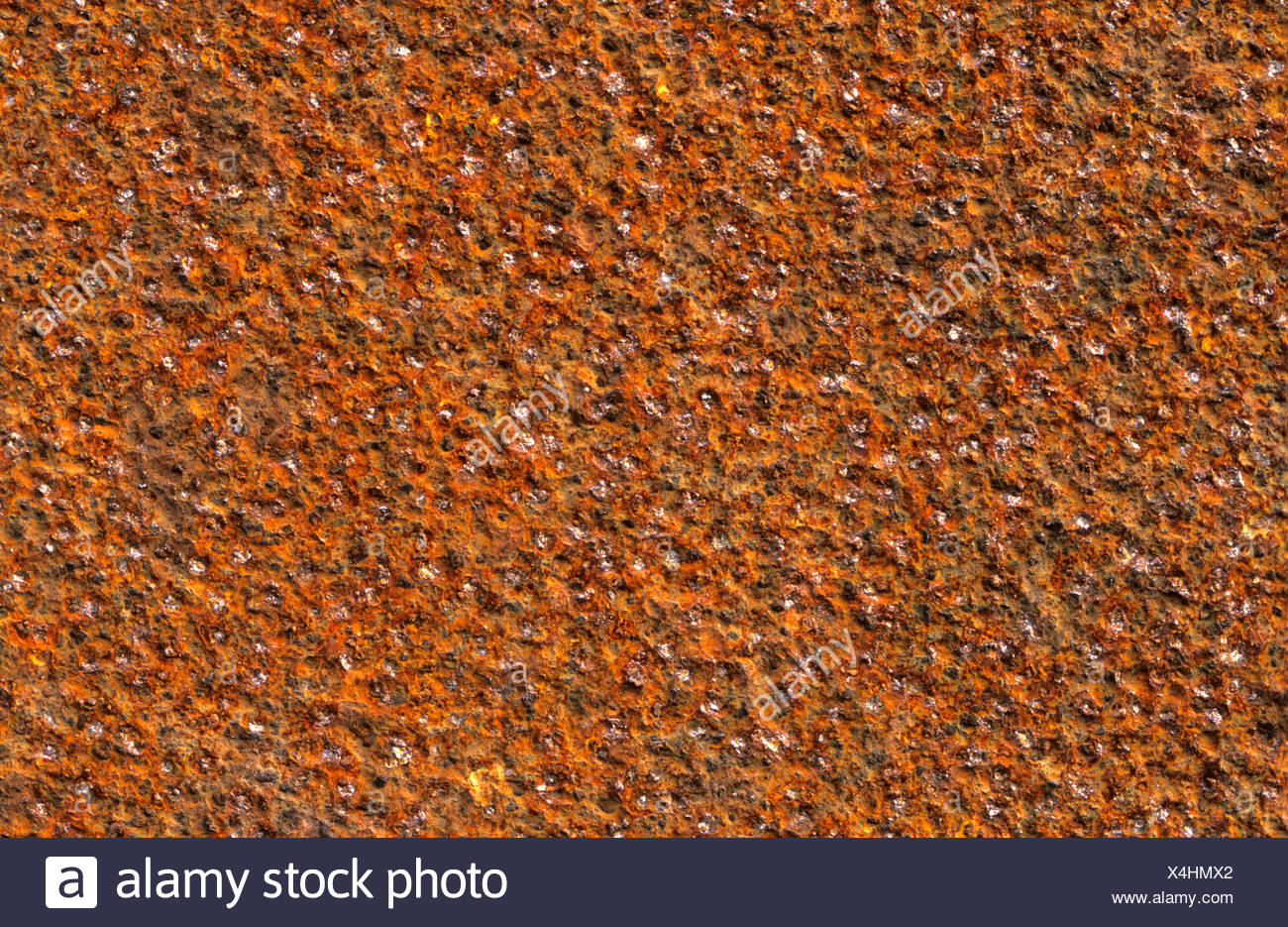 Rough-textured rust surface Stock Photo