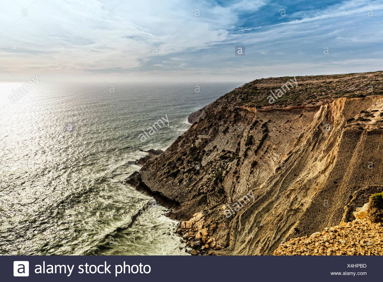 Portuguese Coastline. - Stock Image