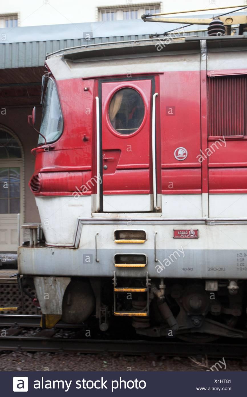Skoda Locomotive Bratislava Station Bratislava Slovakia - Stock Image