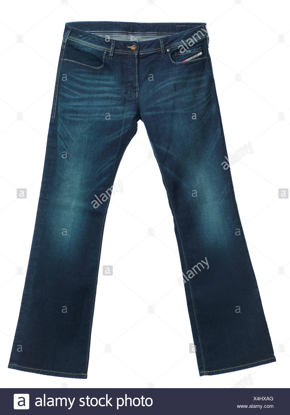 Diesel jeans Zathan, men's boot-cut washed denim pants Stock Photo