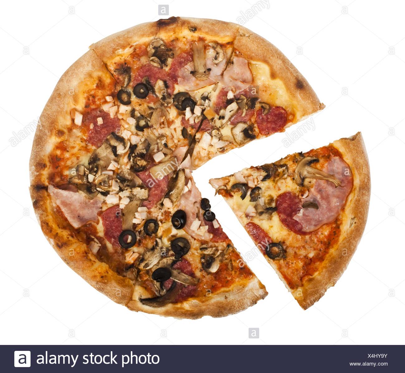 Pizza Pepperoni - Stock Image