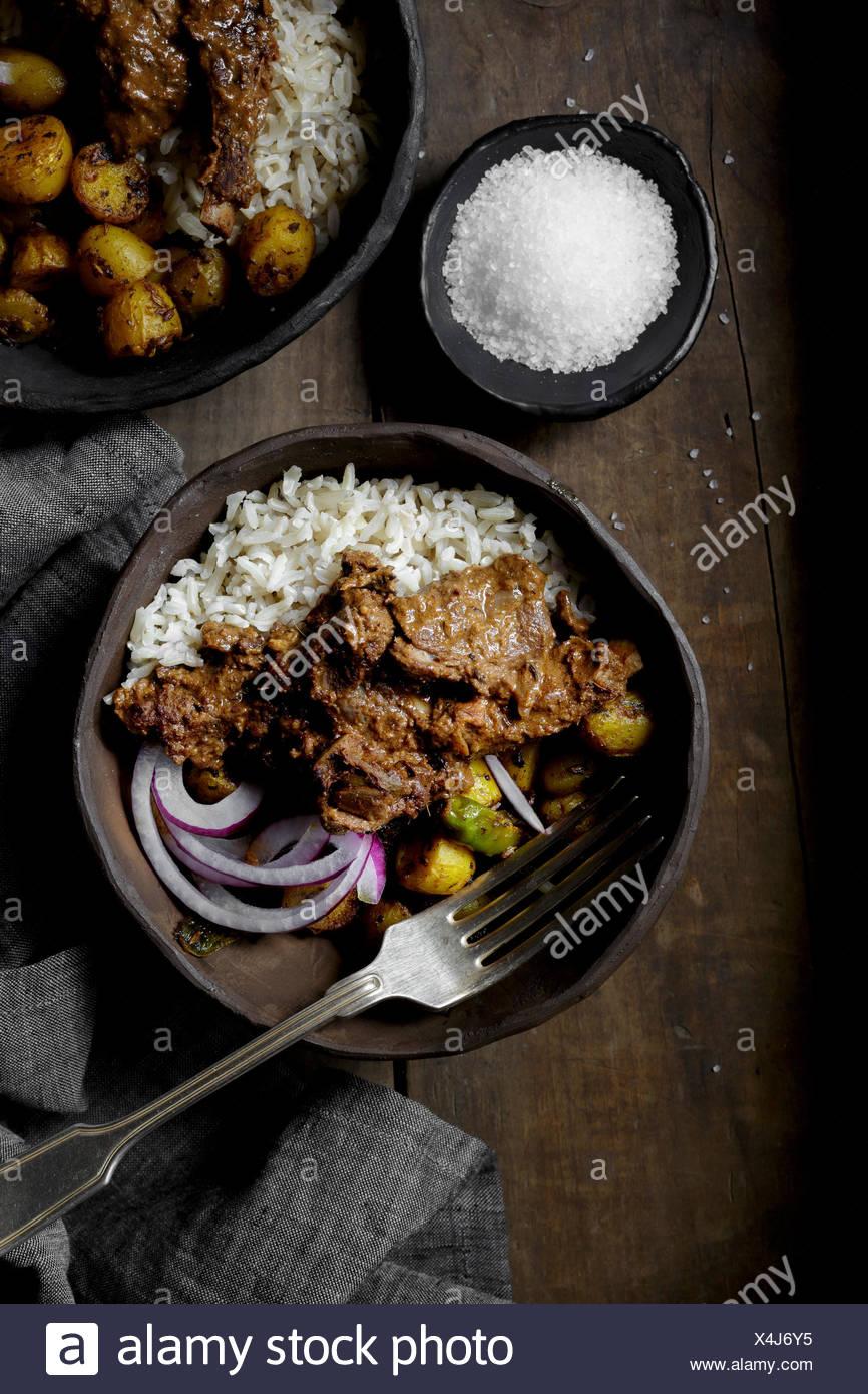 Goat Rogan Josh Indian Curry - Stock Image