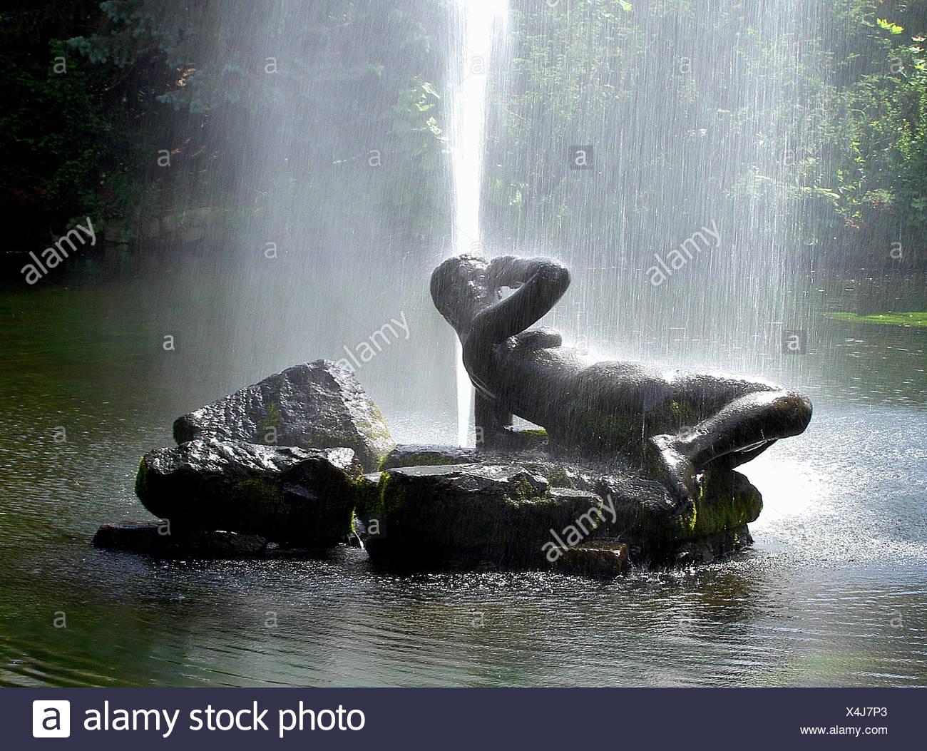 Fountain in mariánské lázne - Stock Image