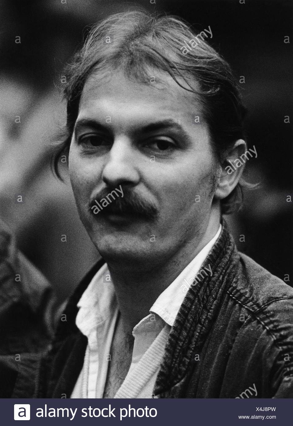 Kleinert, Hubert, * 19.4.1954, German political scientist, politician (Alliance '90/The Greens), portrait, federal party conference of The Greens, Hamburg, 7.-9.12.1984, , Additional-Rights-Clearances-NA - Stock Image