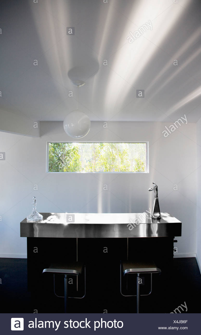 Interior of modern kitchen - Stock Image