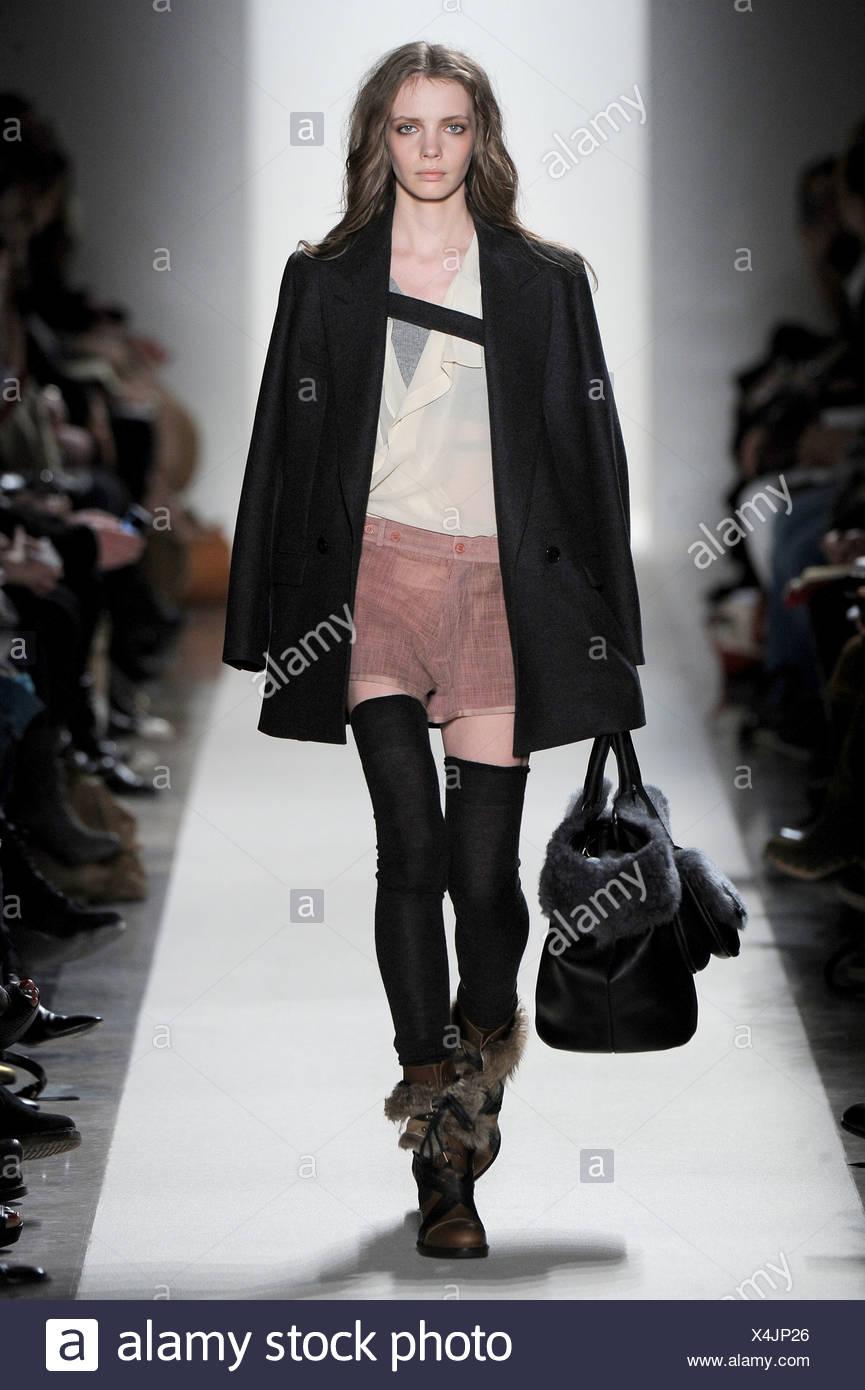 Vanessa Bruno Blouse Stock Photos Paris Ready To Wear Autumn Winter Black Blazer Cream Salmon Pink