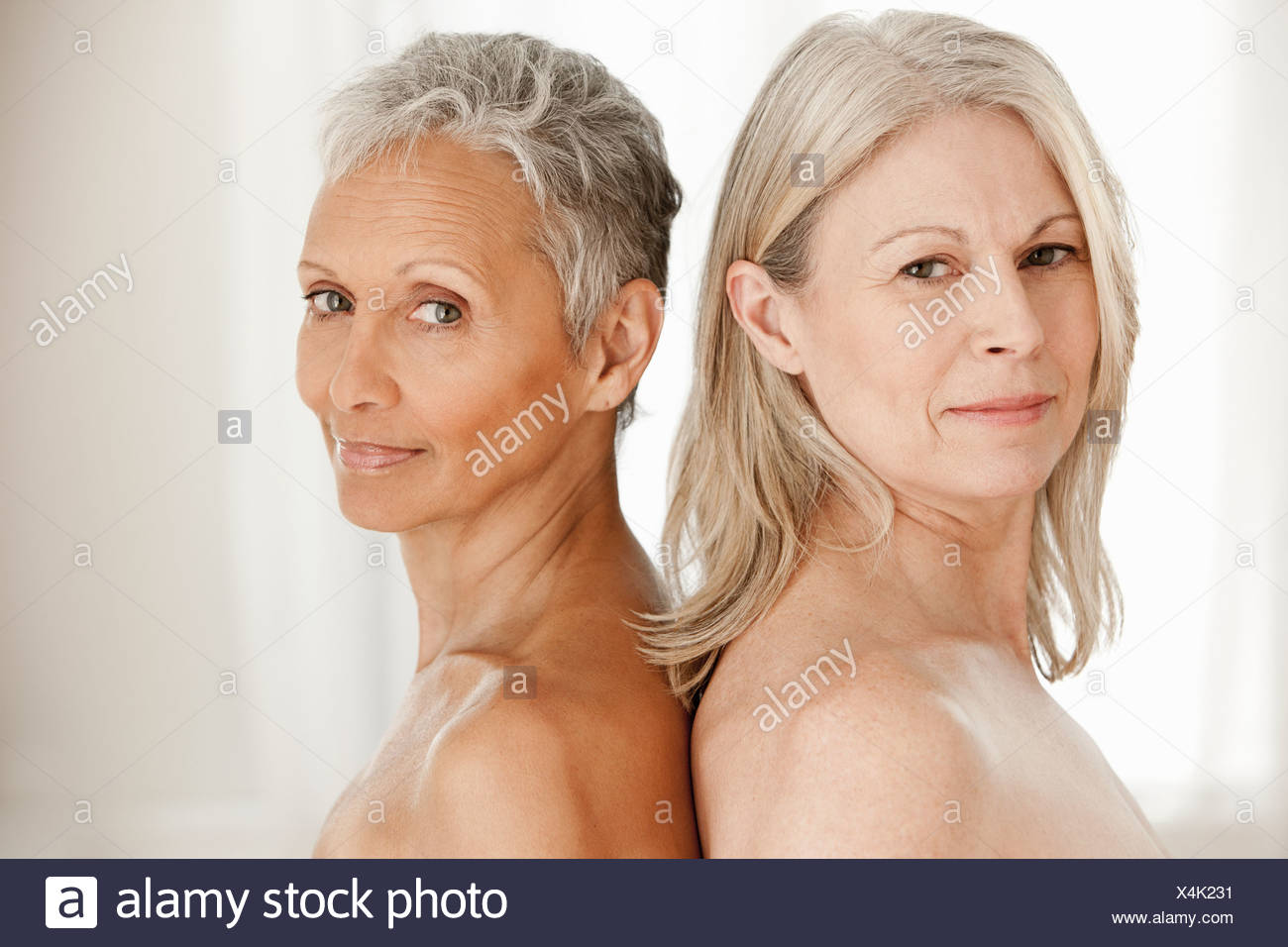 Portrait of senior and mature women - Stock Image