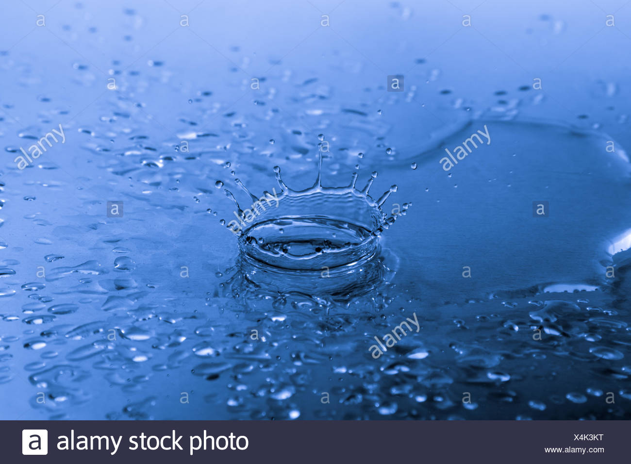 water droplet splash - Stock Image