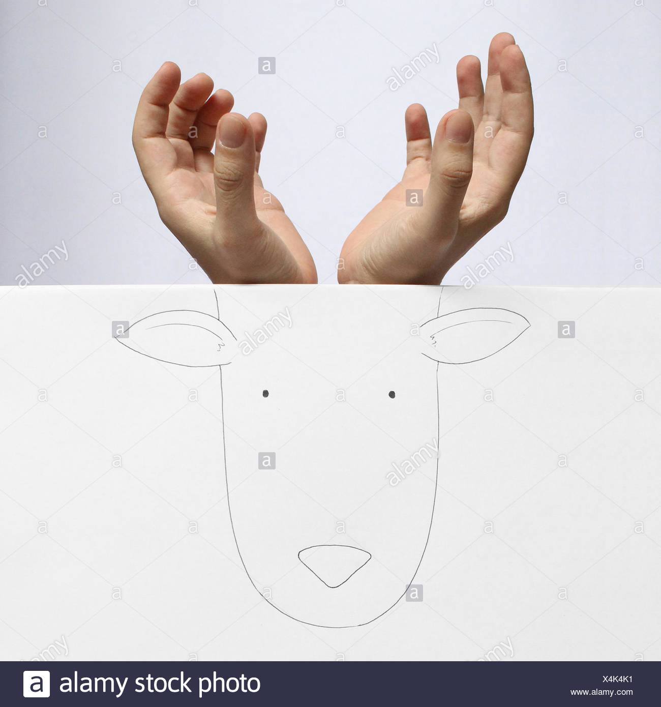 Conceptual image of deer - Stock Image