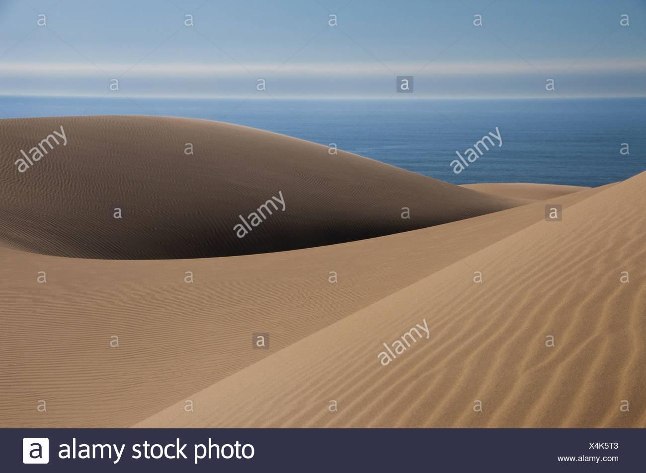 Sand dunes near the Atlantic coastline of the Namib-Naukluft National Park Namibia Namib-Naukluft National Park Namibia Stock Photo