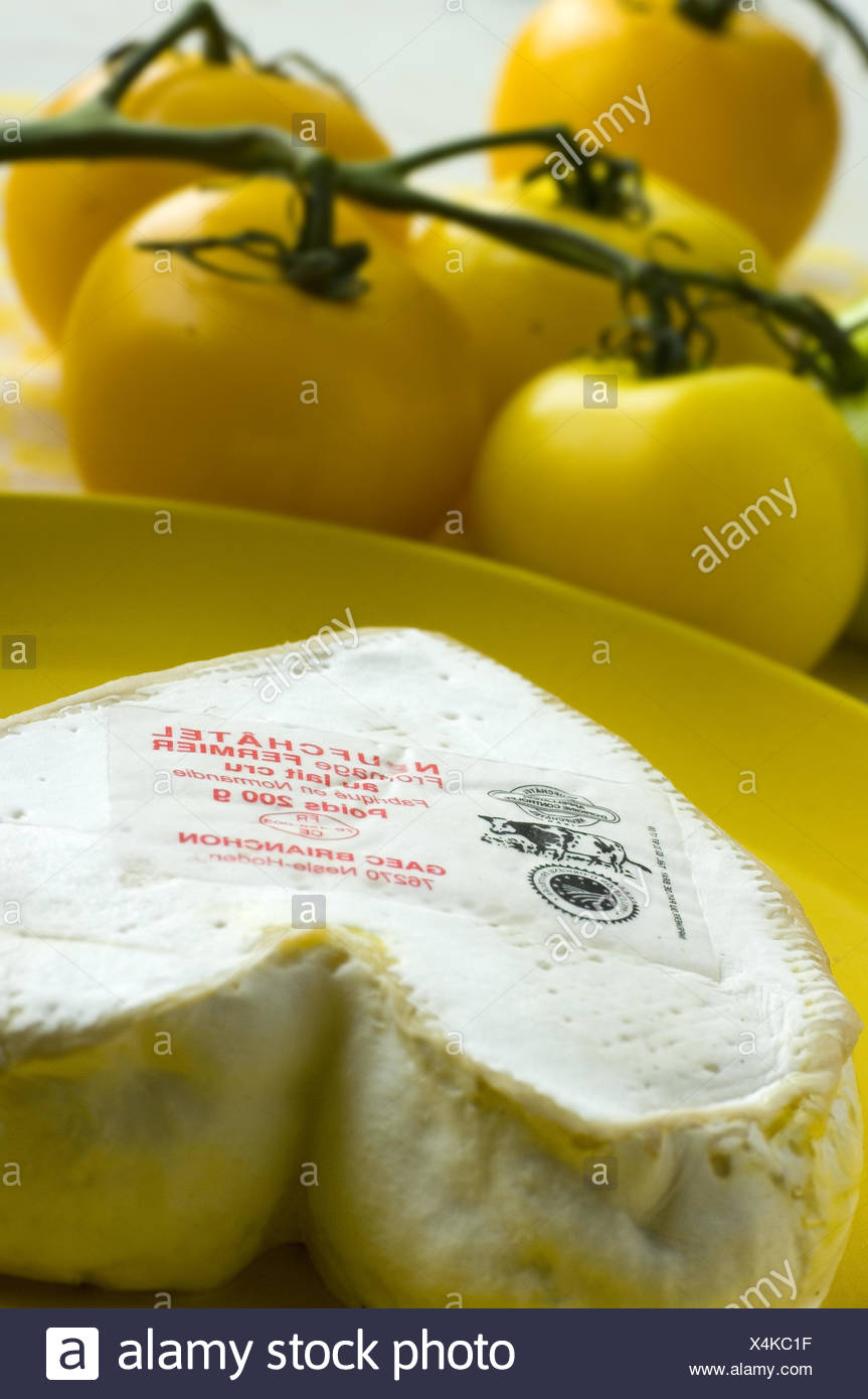 French cheese Neufchatel - Stock Image