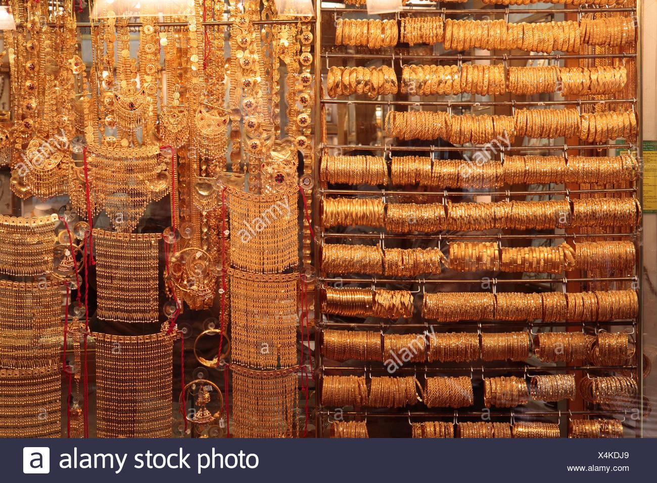 Gold Souk, Dubai, United Arab Emirates, Middle East - Stock Image