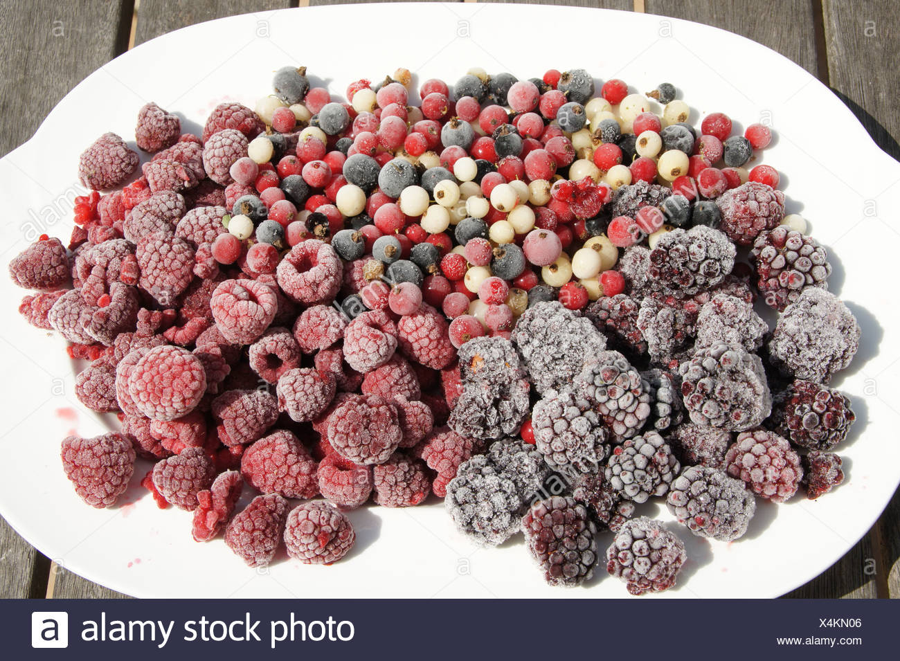 Blackberries, Currants, Raspberries Stock Photo