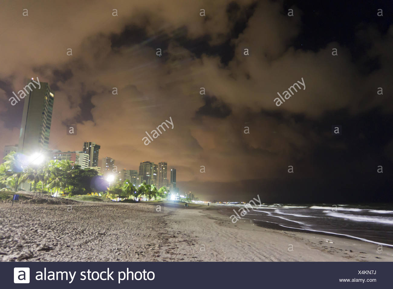 Brazil, Recife Night - Stock Image
