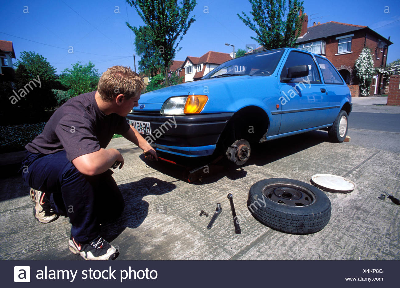 jacked up car stock photos & jacked up car stock images - alamy